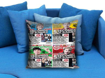 5 Second Of Summer Rock Sound Pillow Case