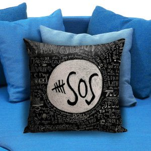 5 Seconds Of Summer Collage Qoute Pillow Case