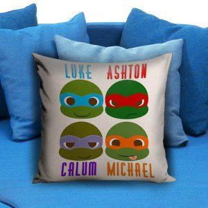 5 seconds of summer ninja turtles Pillow Case