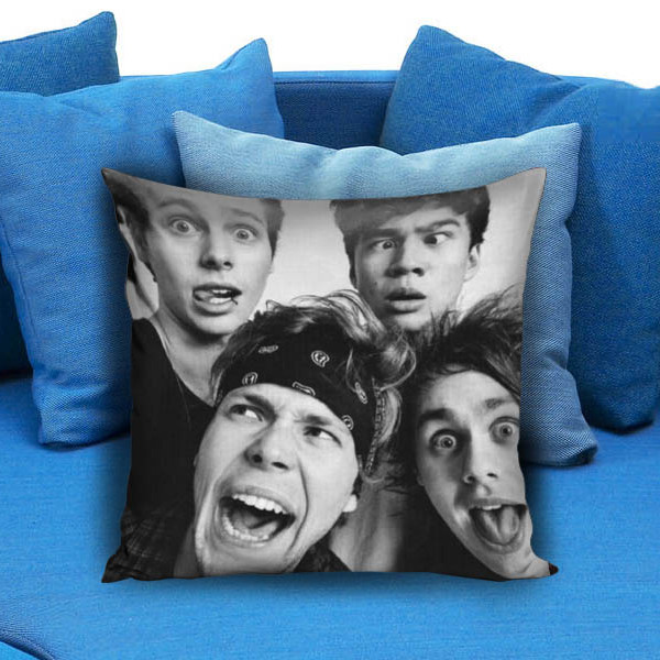 5 sos funny smile Pillow Case