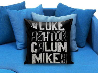 5 sos nick name Pillow Case