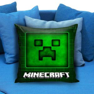 Brick Game 03 Minecraft Creeper Pillow Case