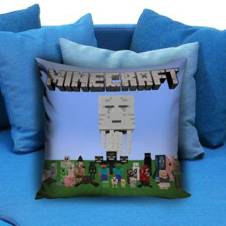 Minecraft Creeper Pillow Case Brick Game