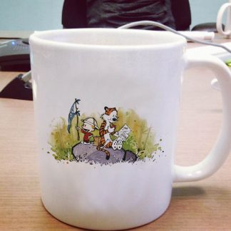 Calvin and Hobbes mug
