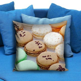 Colorful Macaroon Cookies Pillow Case