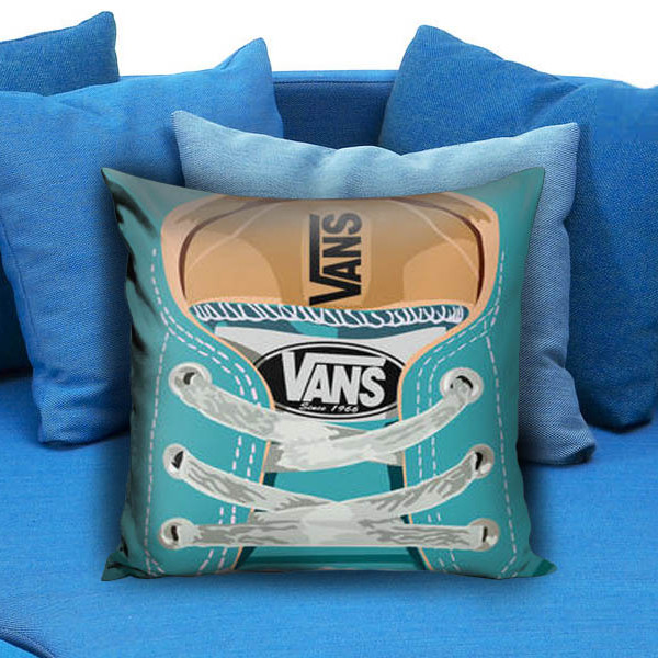 Cute blue teal Vans all star baby shoes Pillow Case