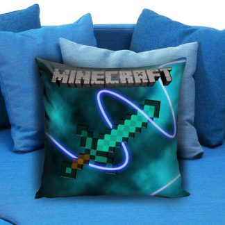 Diamond Sword Brick Game Minecraft Creeper Pillow Case