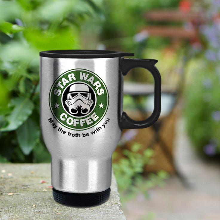 star wars coffee cup travel mug. Black Bedroom Furniture Sets. Home Design Ideas
