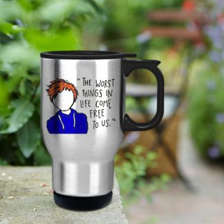 Gift custom mug ed Sheeran The A Team Lyric Cartoon custom cup for family and friends