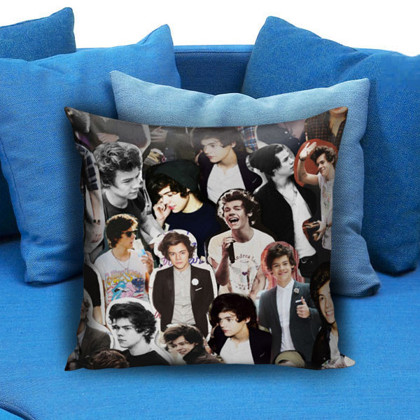 Harry Styles Collage One Direction Pillow Case