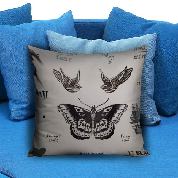 Harry style tattoo One Direction Pillow Case