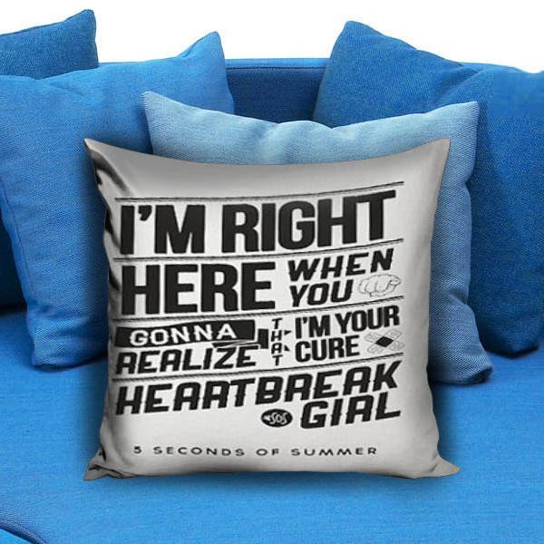 Heartbreak 5 SOS white Pillow Case