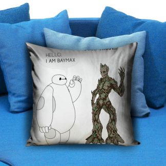 Hello i am baymax i am groot Pillow Case