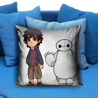 Hiro and Baymax chibi Pillow Case