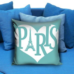 I love paris Square Pillow Case