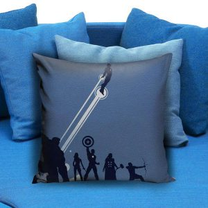 Marvel superhero the avengers silhouette Pillow Case