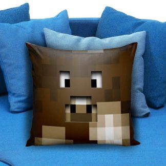 Minecraft Creeper Brown Pillow Case