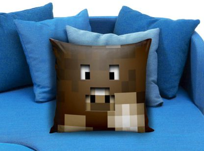 Minecraft Creeper Brown Pillow Case