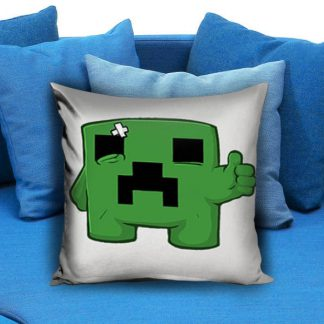 Minecraft Creeper sad Pillow Case
