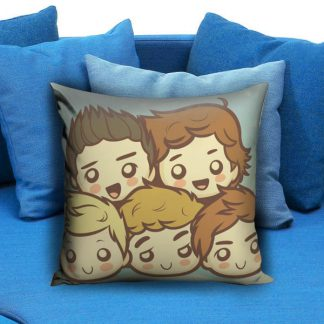 One Direction Cartoon Pillow Case