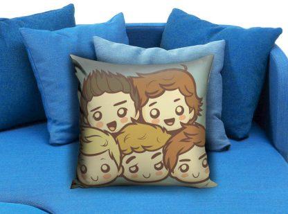 One Direction Cartoon Pillow Case