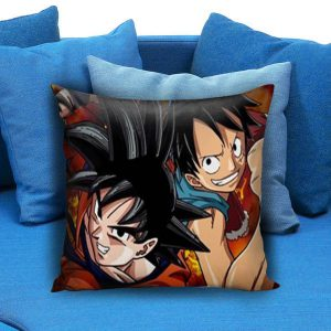 One Piece Luffy Dragon Ball Goku Pillow Case