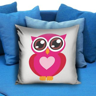 Owl Pink Pillow Case