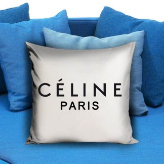 celine paris fashion white black Pillow Case