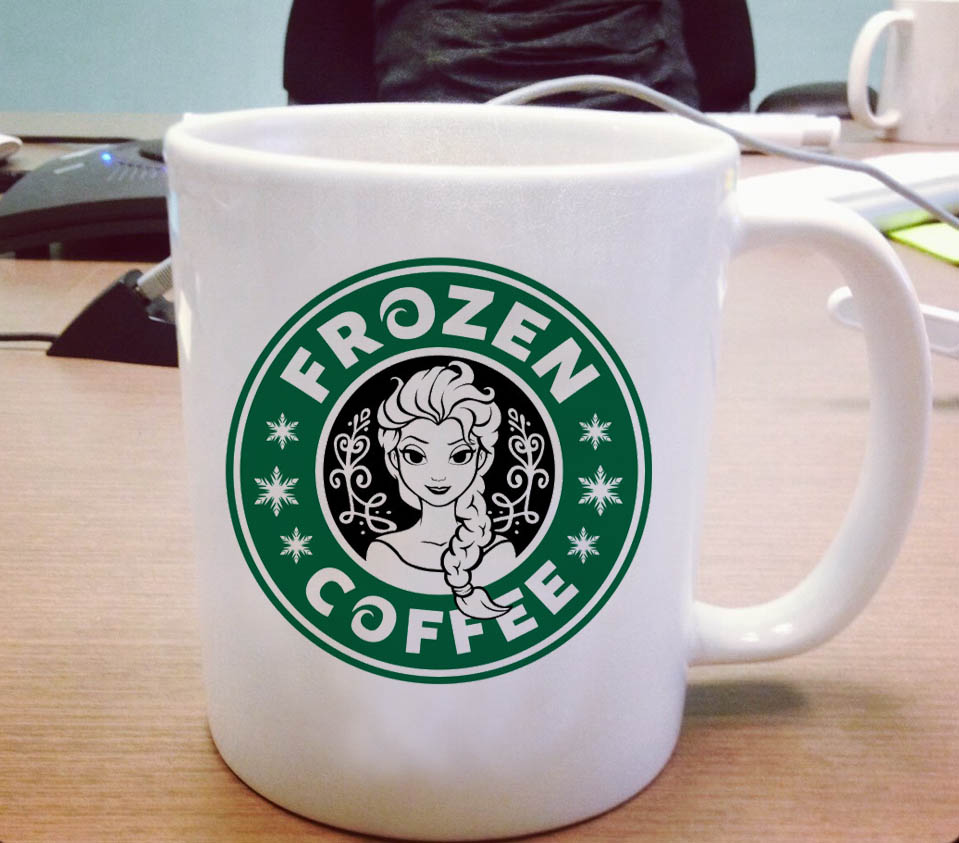 Disney Frozen Starbucks Logo Ceramic Mug Pillowmug Com