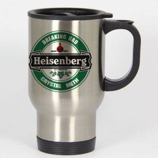 Breaking Bad Heisenberg travel mugs coffee mug tea mug Size 14oz One Size Stainless Steel