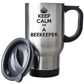 Keep Calm I am A Beekeeper Travel Mug