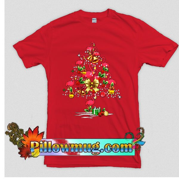 Flamingo Christmas TreeT-Shirt