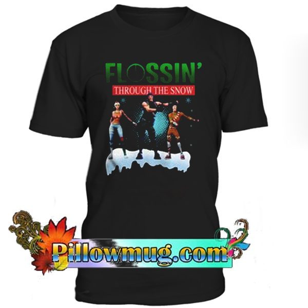 FORNITE CHRISTMAS FLOSSING SNOW T- SHIRT