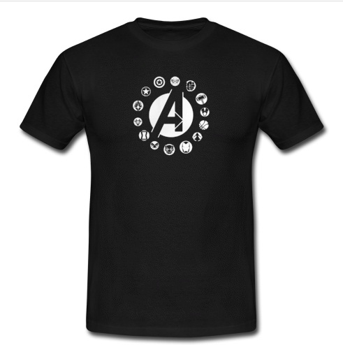 Avengers team logo T Shirt SU