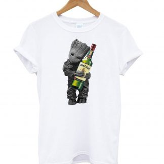 Baby groot hug Jameson wine T-shirt SU
