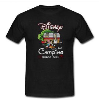 Mickey and Minnie Disney and camping kinda girl T Shirt SU
