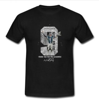 Nick Foles Eagles thank you for the memories signature T Shirt SU