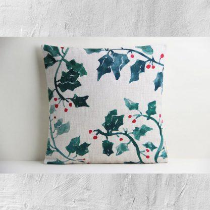 Christmas Mistletoe Decorative Cushion Cover X'mas Holiday Pillow Cover