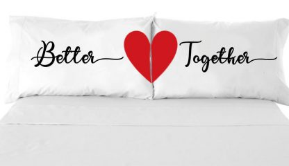 better together Pillow Case,Personalized Name Pillowcase
