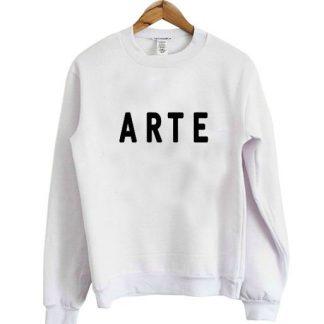 Arte font sweatshirt AY
